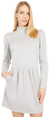 La Vie Rebecca Taylor Long Sleeve Jersey Dress (Heather Grey) Women's Clothing