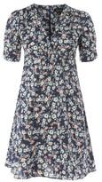 Topshop Ditsy Print Poplin Tea Dress