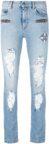 Marcelo Burlon County of Milan distressed jeans - women - Cotton/Polyester/Spandex/Elastane - 25