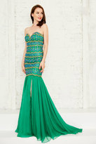 Angela & Alison Angela and Alison - Extravagant Strapless Beaded Sweetheart Mermaid Dress 771110