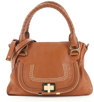Chloé Marcie Turnlock Satchel Leather Medium