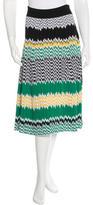 Celine Patterned Midi Skirt w/ Tags