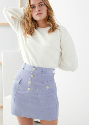 And other stories Organic Cotton Corduroy Mini Skirt