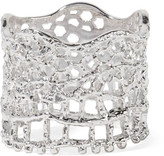 Aurelie Bidermann Lace Silver-plated Ring - 52