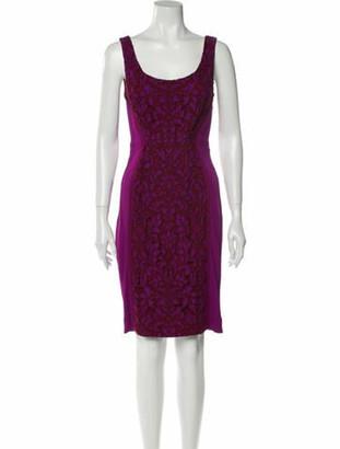 Diane von Furstenberg Printed Knee-Length Dress Pink
