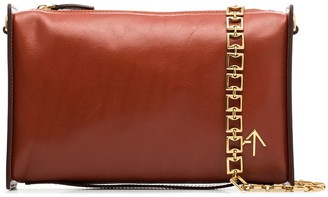 MANU Atelier Chain-Trim Leather Shoulder Bag