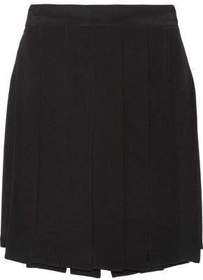 Cushnie et Ochs Layered Silk-Crepe Mini Skirt