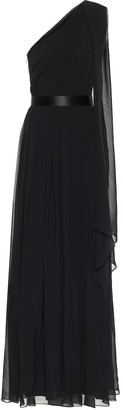 Max Mara Berger silk one-shoulder gown