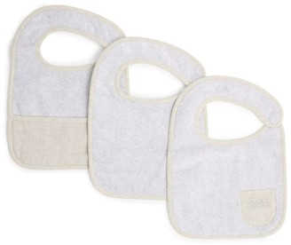 BRUNELLO CUCINELLI KIDS Set of 3 Cotton Bibs