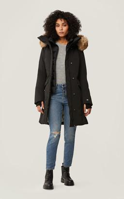 Soia & Kyo REMI Thermolite coat with detachable faux fur