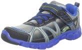 Stride Rite Racer Lights Velocity 625 Sneaker (Toddler/Little Kid),Silver/Blue,13 M US Little Kid