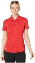 adidas Microdot Polo Short Sleeve (Collegiate Red) Women's Clothing