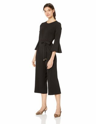 Tommy Hilfiger Women's Solid Bell Sleeve Jumpsuit