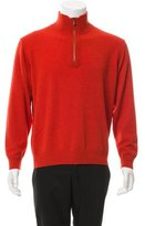 Brioni Cashmere Half-Zip Sweater w/ Tags