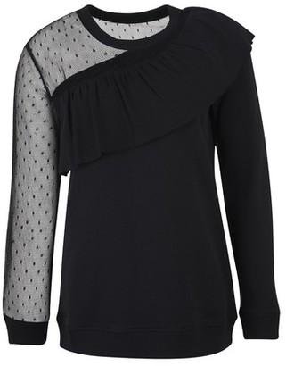 RED Valentino Lace collar sweat shirt