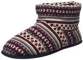 totes Men's Fairisle Knit Bootie Hi-Top Slippers,S 40/41 EU