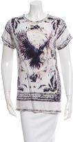 Balmain Printed Scoop Neck T-Shirt