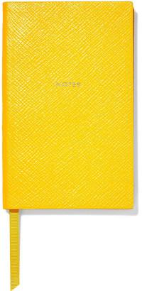 Smythson Panama Notes Textured-leather Notebook