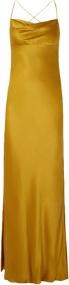 Mason by Michelle Mason Silk-satin Gown