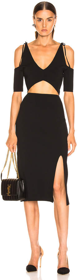 Altuzarra Giovanna Slit Midi Dress in Black | FWRD