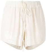 P.A.R.O.S.H. drawstring sequin shorts