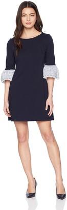 Brinker & Eliza Women's Solid Shift Dress with Bell Sleeves (Regular & Petite)
