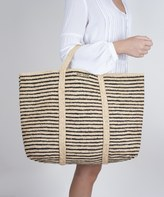 Vix Paula Hermanny Vix Woven Stripe Bag Black