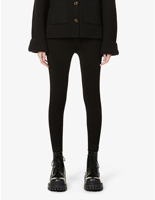 Sandro Yannick high-waist stretch-fabric leggings