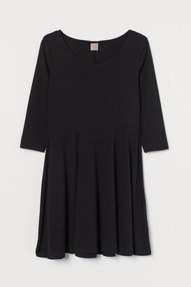 H&M H&M+ Short Jersey Dress - Black