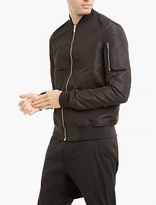 Rick Owens Black Nylon Flight Bomber Jacket
