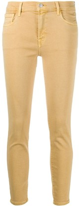 J Brand Mid Rise Cropped Skinny Jeans