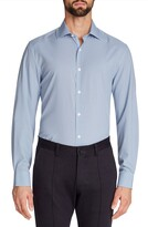 Work Rest Karma Trim Fit Dot Performance Stretch Dress Shirt
