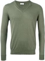 Closed V neck sweatshirt - men - Cotton - XL