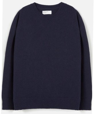 Universal Works Loose Knit Crew Navy - Medium