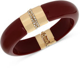 INC International Concepts M. Haskell for INC Gold-Tone Resin Hinged Bangle Bracelet, Only at Macy's