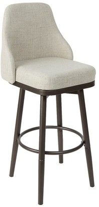 Cheyenne Cyrene Upholstered Curved Back Bar Stool with Metal Adjustable Legs