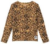 Mini Rodini Beige Basic Leopard Grandpa Top