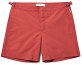 Orlebar Brown Bulldog Mid-length Swim Shorts - Brick