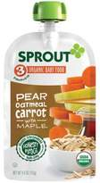 Sprout 4 oz. Stage 3 Organic Baby Food in Pear, Carrot and Oatmeal with Maple