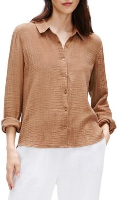 Eileen Fisher Organic Cotton Button Front Shirt