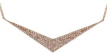 Ef Collection 14K Diamond Arrow Pendant Necklace