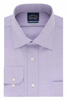 Eagle Men's Dress Shirt Slim Fit Non Iron Stretch Collar Solid