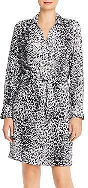 Brochu Walker Madsen Leopard Printed Shirt Dress