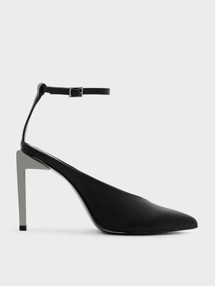 Charles & Keith Ankle Strap Pointed Heels