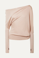 Tom Ford One-shoulder Cashmere And Silk-blend Sweater - Beige