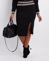 Charlotte Russe Plus Size Varsity Stripe Pencil Skirt