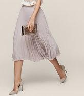 Reiss New Collection Rosie Knife-Pleat Midi Skirt