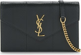 Saint Laurent Monogram mini snakeskin shoulder bag