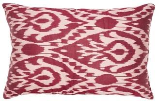 Les Ottomans - Ikat Silk Cushion - Pink Multi