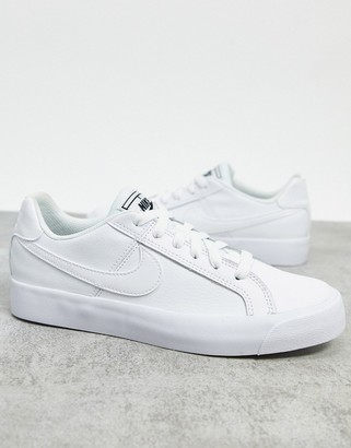 Nike Court Royale AC sneakers in white and black